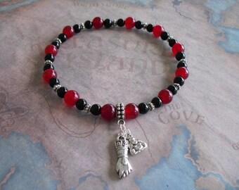 Azabache (figa hand) & buddha bracelet