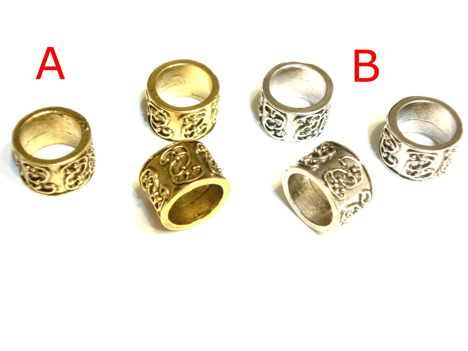 unique metal scarf rings silver gold tone available sold 6