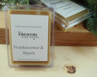 Frankincense and Myrrh Scented 100% Soy Wax Melt - An Exotic Blend -Maximum Scented