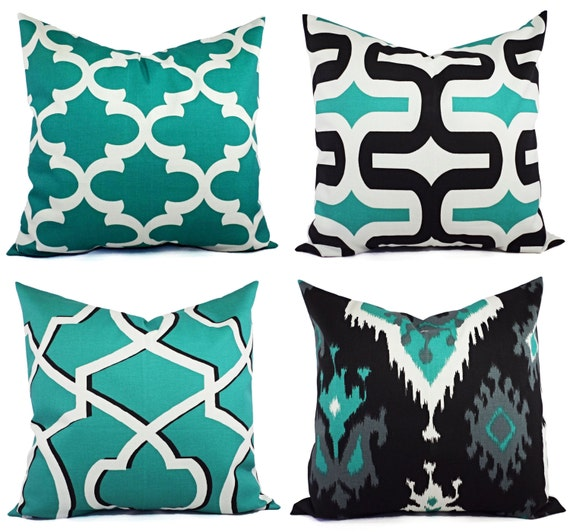 Jade Decorative Pillows : One Decorative Throw Pillow Cover Jade Green by CastawayCoveDecor