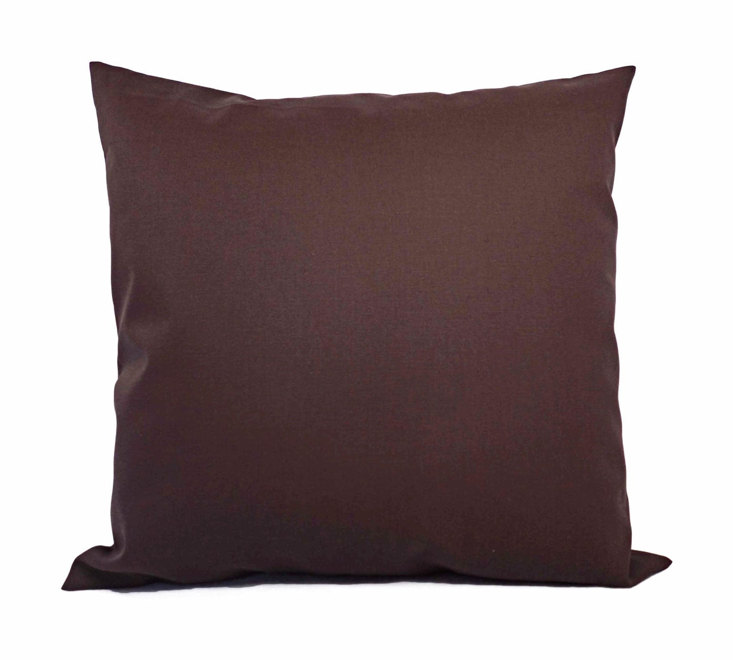 Decorative Pillow Brown : Two Solid Brown Pillow Covers Brown Couch by CastawayCoveDecor