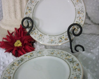 Two Vintage M Fine China Priscilla Pattern Number 5551 Bread and Butter Plate - Made in Japan