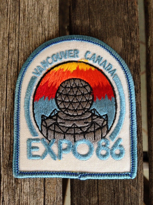 Vancouver canada expo vintage souvenir travel patch