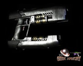 Guardians Of The Galaxy Cosplay Custom Prop Replica Quad Blaster StarLord Nerf Art By Artist Nelson Rivera