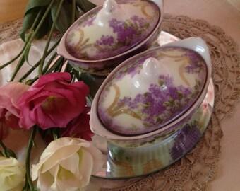 Vintage Dressing Table bone china Trinket holders
