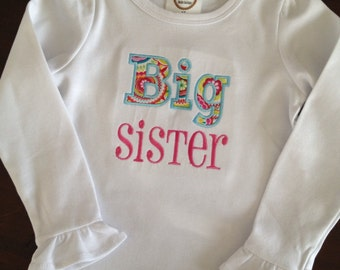 Big sister ruffle shirt
