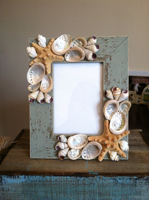 Beach Decor Seashell Picture Frame Starfish Picture Frame