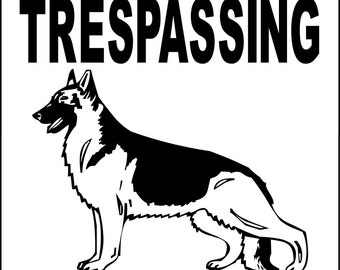 No Trespassing Etsy