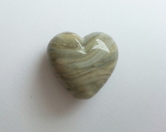 Handmade Lampwork Glass Heart Bead - 'Stone Heart' SRA - Limited Edition - E34