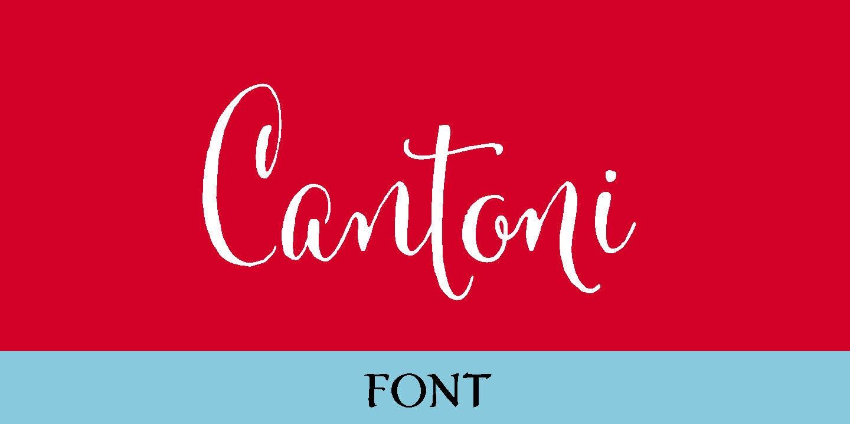 Cantoni font free download