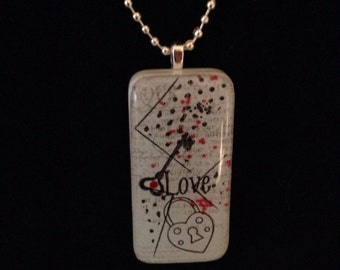 Key to Love Domino Necklace