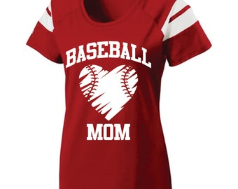 Short Sleeve, Screen Printed, Baseball Mom T-Shirt