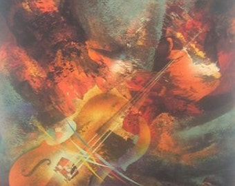 "Leonardo Nierman ""Mahler"" Original Lithograph S/N Art"