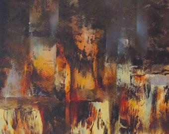 "Leonardo Nierman Villes ""City Ruins"" Original Lithograph Artwork S/N"