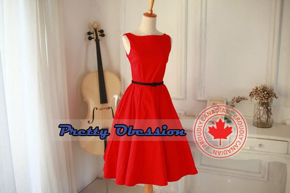Red  Dress -  Red Bridesmaid Dress - Plus Size Dress - Party Dress - Prom Dress - Christmas Dress