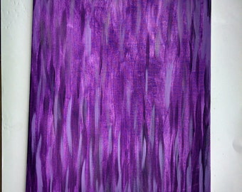 Purple abstract canvas painting, colorful painting, baby girl room decor