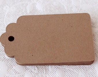 Brown Kraft Tags, Small Paper Tags, Blank Gift Tags, Die Cut Tags, Kraft Tags, Favor Tags, Hang Tag, Price Tag, Rustic Wedding
