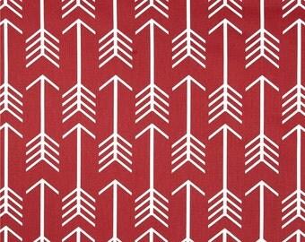1/2 or 1 yard fabric -Home Decor Tribal Fabric Premier Prints Arrow Macon Timberwolf Red