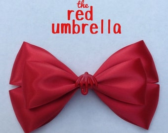 red umbrella hair bow