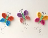 Quilled Card, © ElPetitTaller Quilled Butterflies, Paper goods, Stationary, Spring, Insects, Butterflies