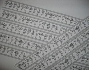 8 stickers stripes, flowers (597)