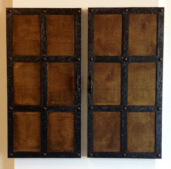 Items similar to dungeon doors wall decor medieval for Medieval decor