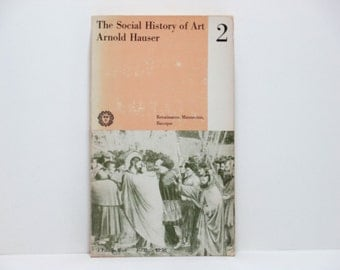 Paul Rand Cover Design ~ The Social History of Art Volume 2: Renaissance, Mannerism, Baroque by Arnold Hauser Vintage Book