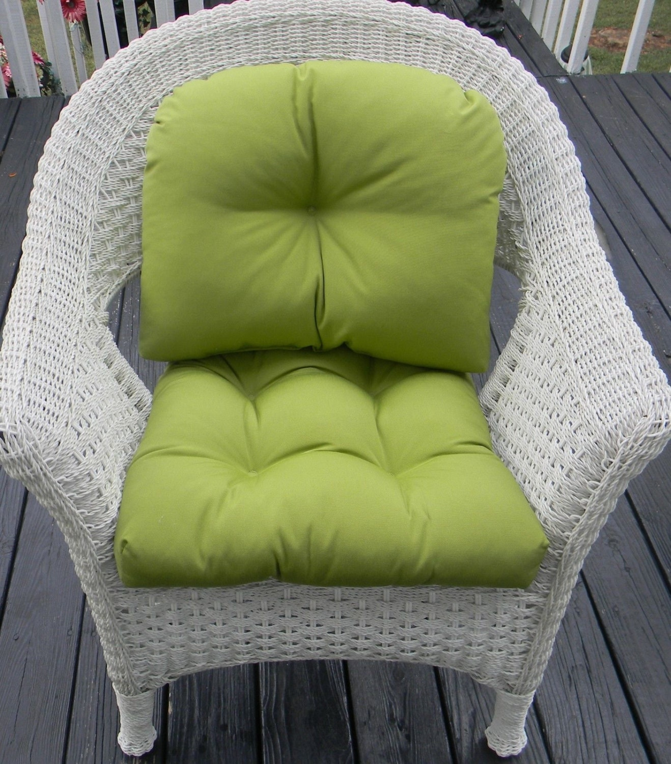 Indoor outdoor wicker chair cushion back pillow cushion for Chair pillow