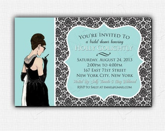 BREAKFAST AT TIFFANY'S bridal shower invite