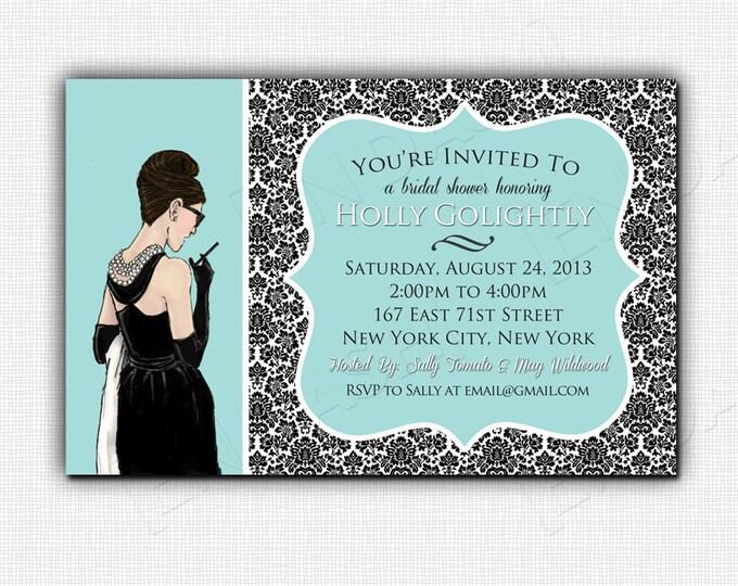 BREAKFAST AT TIFFANY'S bridal shower invite