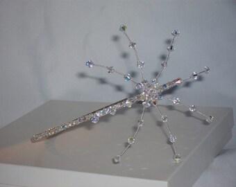 Bridal Wedding  Headpiece swarovski crystals  Tiara side sitting  Alice Band  bridesmaids/bride/wedding/prom/party
