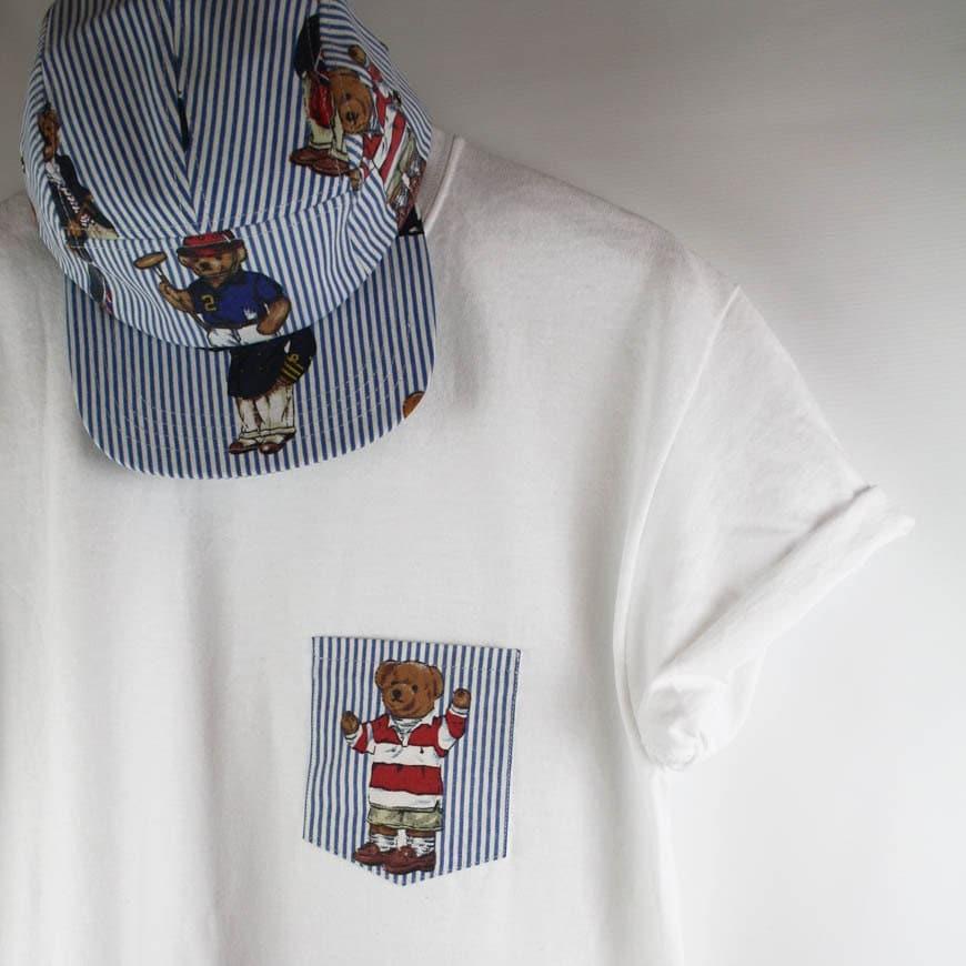 Ralph Lauren Polo Bear Custom Pocket Tee T Shirt by AgoraSnapbacks