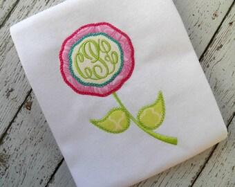 VINTAGE FLOWER APPLIQUE machine embroidery design