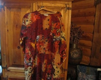 NWOT Womens Bohemian Tiger Print Tent Dress One Size Fits Most