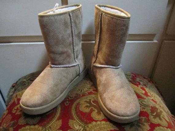 airwalk suede fleece like winter boots size eur 40 5 uk 7 0