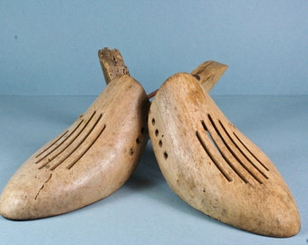 vintage french wooden shoe trees