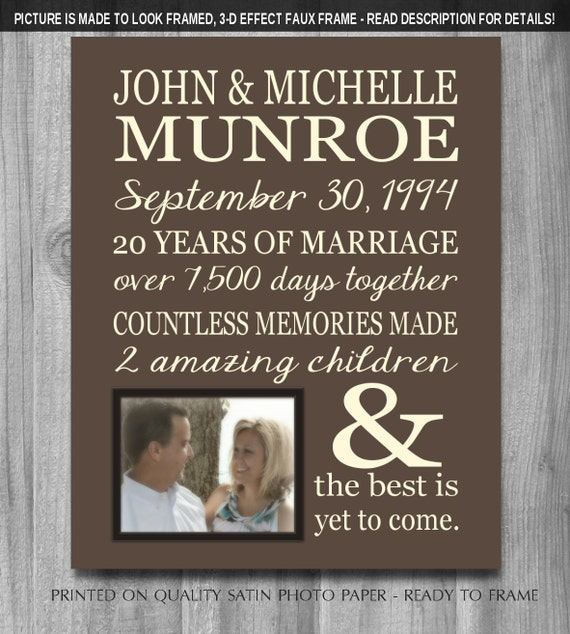 Unique 25th Wedding Anniversary Gift Ideas For Parents : PERSONALIZED 25th Anniversary Gift for Wife Personalized Print Parents ...