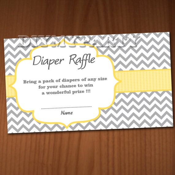 baby shower diaper raffle ticket diaper wipe raffle card diapers