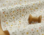 FINAL HALF YARD - Dainty floral cotton fabric / Cottage floral fabric (half yard)