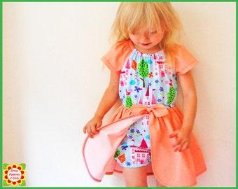 Princess Romper Dress Sewing Pattern for Children + Free Mother-Daughter Apron Pattern, Girls DRESS PATTERN,  Toddler Girl pattern