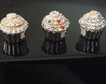 CZ Cupcake Couture Sterling Silver Carlo Biagi Bead European Charm