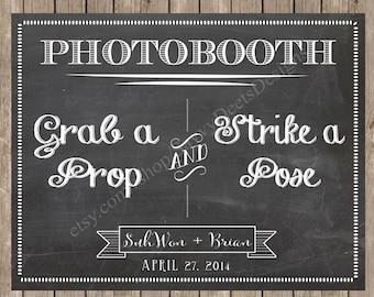 Custom Chalkboard Photobooth Sign Printable