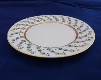 Vintage Raynaud Limoges Porcelain Bread and Butter Plate Rare Pattern circa 1930