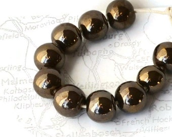 Gold Lustre Beads, African Beads, Made in South Africa
