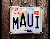 Made in Hawaii. License plate art. Christmas. Maui, license plate, sign, hawaii , ocean, sea, beach, decor, travel, vacation, shells, sand.