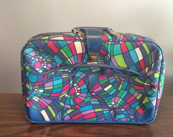 Vintage Psychedelic Print Suitcase