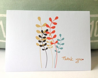 Thank You Card . Greeting Card . All Occasion Card . Floral thank you card . Wedding Thank you . Colourful branches