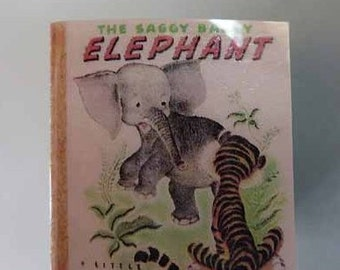 Children's Book The Saggy Baggy Elephant - dollhouse miniature 1:12 scale