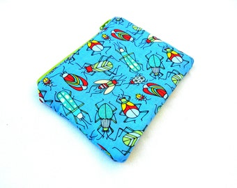 Bright Beetles and Bugs Zipper Pouch - Bugs Boys Blue Red Green Clutch Wallet Electronics