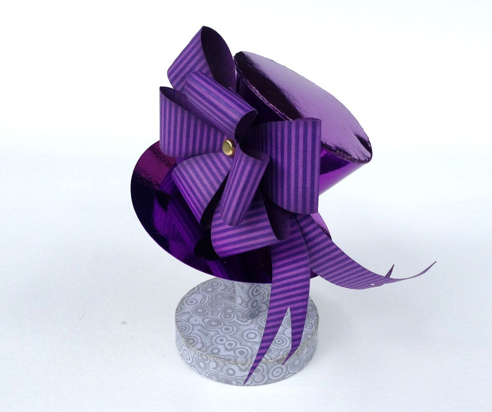 Svg Cut File Gothic Mini Hat With Bow Diy Paper Crafts
